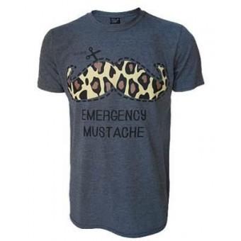 Darkside Clothing-Emergency Moustache T-shirt