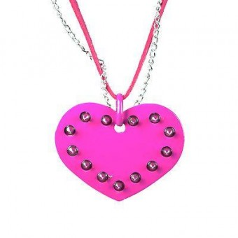 Phoenixx Rising-Spiked Heart Necklace