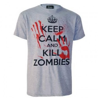 Darkside Clothing-Keep Calm Kill Zombies T-shirt