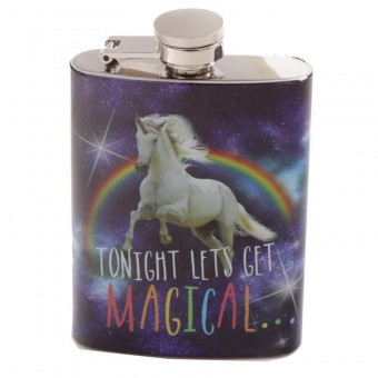 Puckator-Unicorn Steel Hip Flask