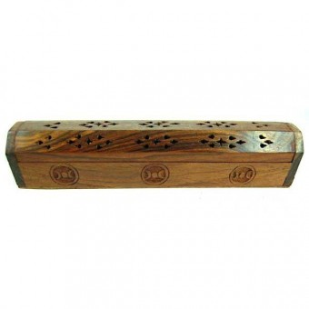 Cleo Gifts-Moon Wooden Incense Box