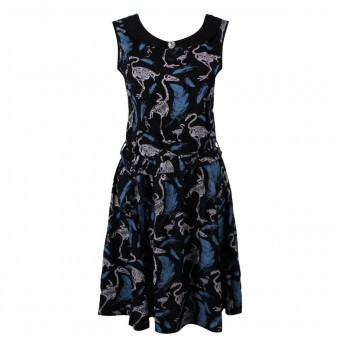 Cold Heart-Swan Skeleton Classic Dress