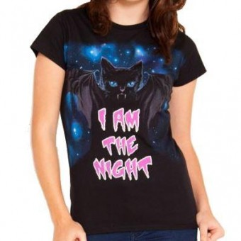 Flip Flop And Fangs-I Am The Night T-shirt
