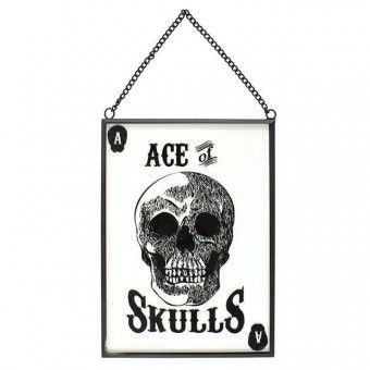 Something Different-Ace Of Skulls Glass Sign