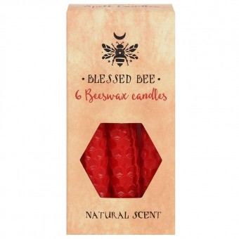 Phoenixx Rising-Red Beeswax Spell Candles