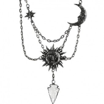 -Moon and Sun Silver Necklace