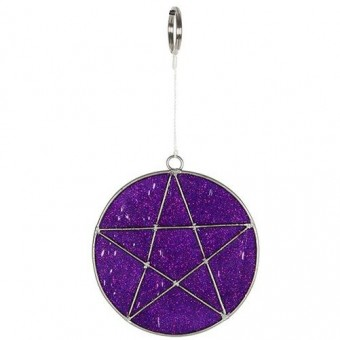 Phoenixx Rising-Pentagram Mini Mystical Suncatcher