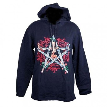 Cleo Gifts-Skeleton Pentagram Hooded Top