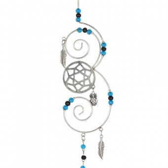 Something Different-Turquoise Beaded Hanging Crystal