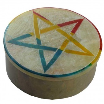 Phoenixx Rising-Pentagram Soapstone Box