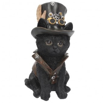 Nemesis Now-Cogsmiths Cat Figurine