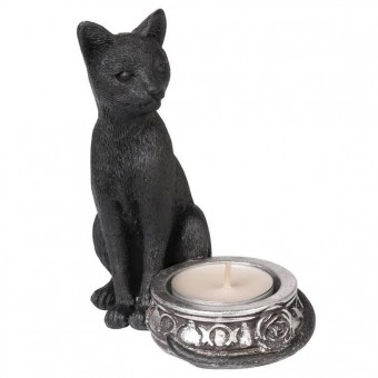 Black Cat Tea Light Candle Holder