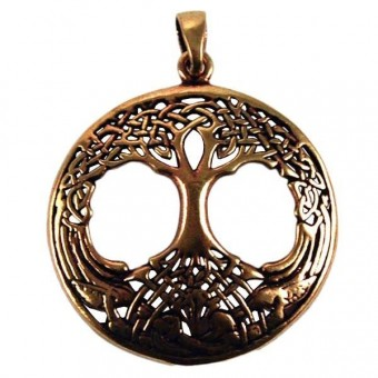 Phoenixx Rising-Tree Of Life Bronze Pendant