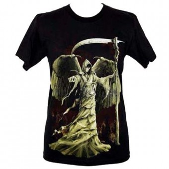Cleo Gifts-Winged Grim Reaper T-shirt