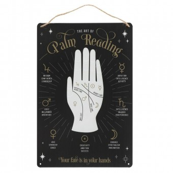 -Palm Reading Metal Sign