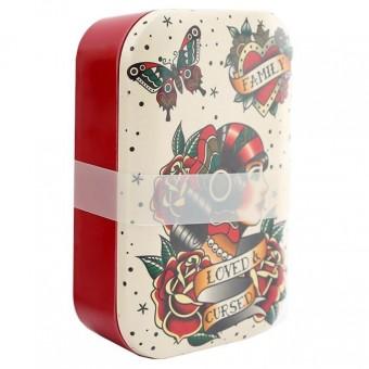 Phoenixx Rising-Tattoo Bamboo Lunch Box