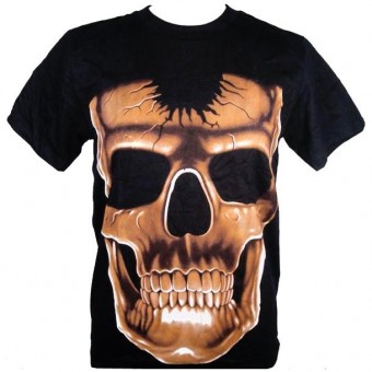 Cleo Gifts-Cracked Skull T-shirt