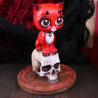 Devil Kitty Figurine