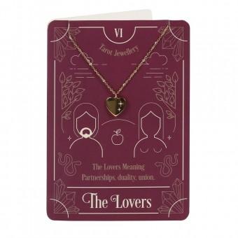 Phoenixx Rising-The Lovers Tarot Necklace Card