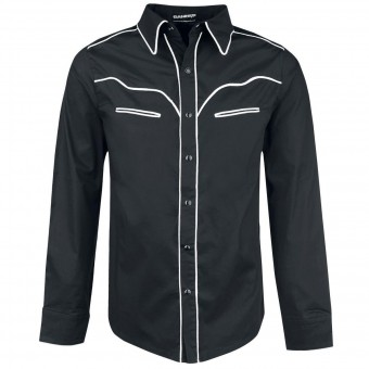Banned Apparel-Western White Trim Shirt