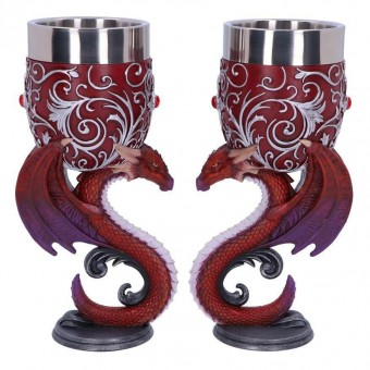 Nemesis Now-Dragons Devotion Twin Goblet Set