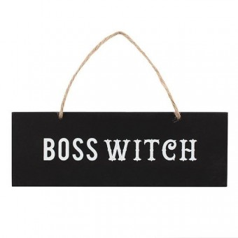 -Boss Witch Wall Sign