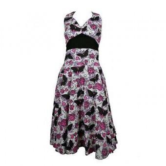 Phoenixx Rising-Mia Butterfly Skull Dress