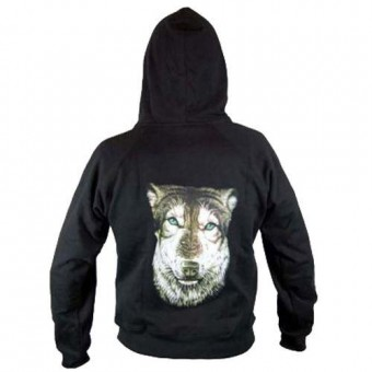 Cleo Gifts-Wolf Hooded Top