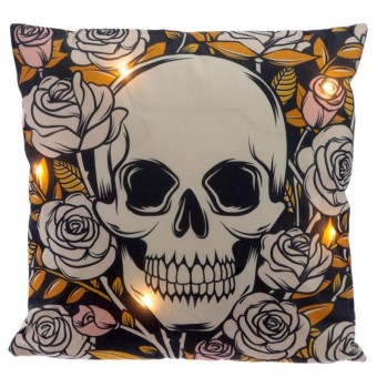 Phoenixx Rising-Skulls and Roses LED Cushion