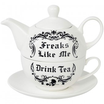 Alchemy Gothic-Freaks Like Me Tea Set