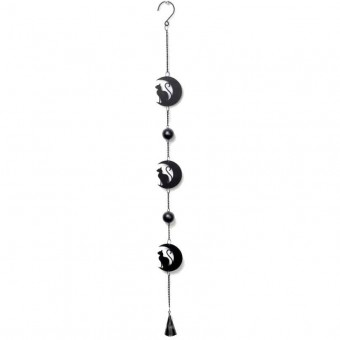 Alchemy Gothic-Black Cat Moon Hanging Decoration